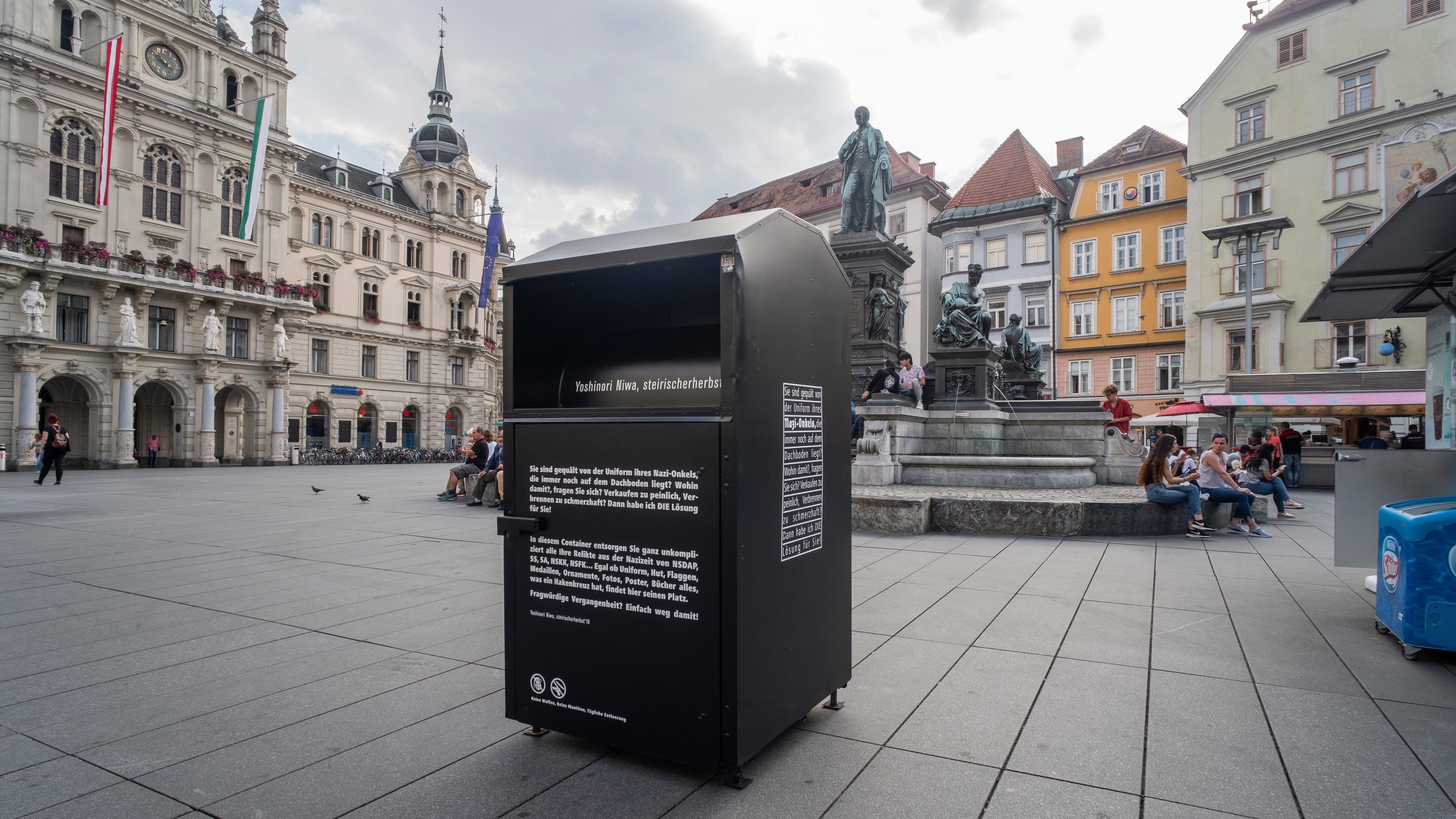 Abfallbehälter für NS-Nippes in Graz