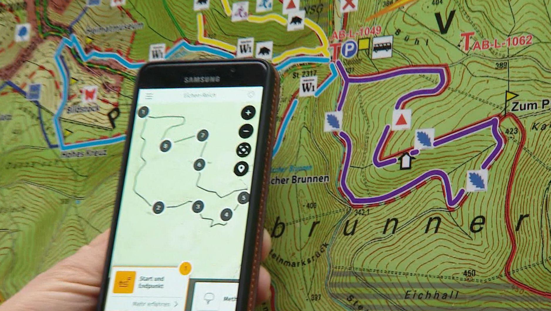 Die Spessart-App auf dem Smartphone