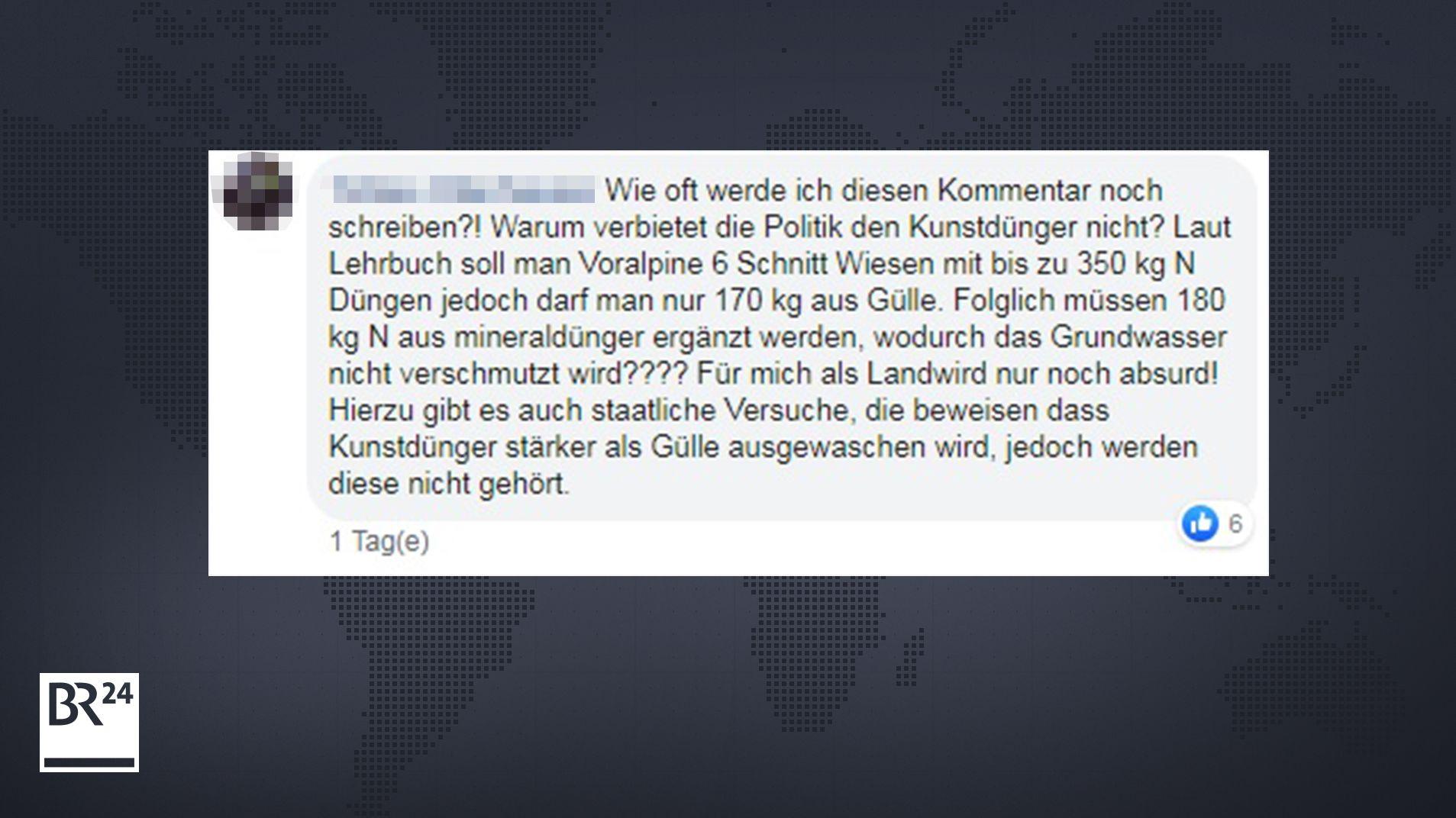 Kommentar auf Facebook