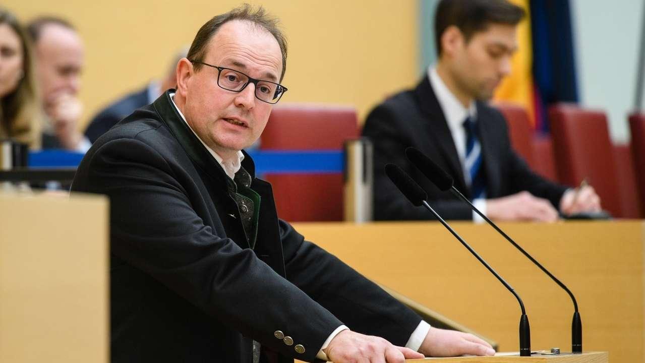 Markus Plenk im Bayerischen Landtag.