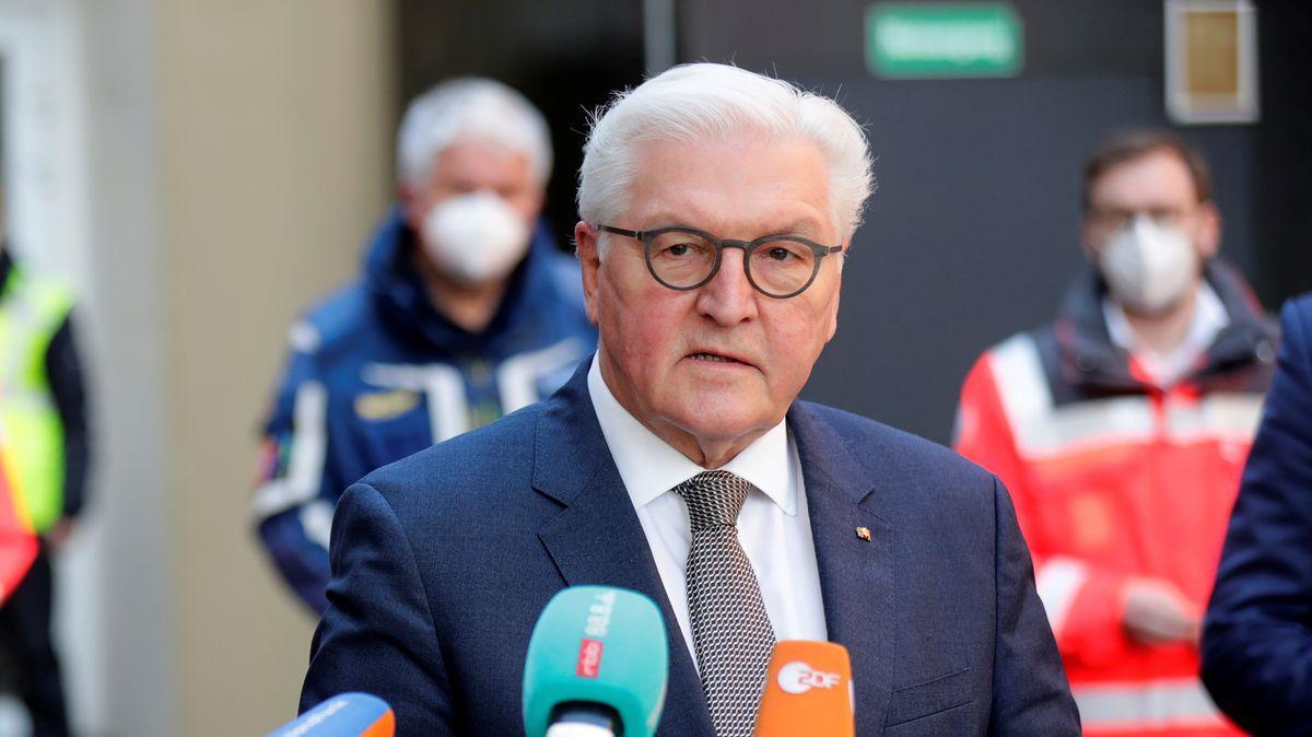 Bundespräsident Frank-Walter Steinmeier bei einer Pressekonferenz in Berlin am 21.12.2020
