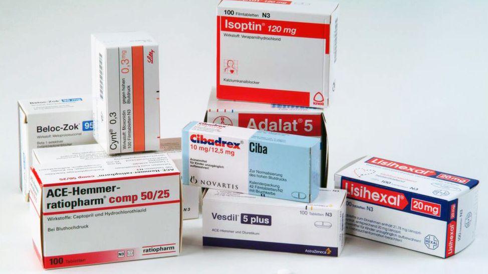 Verschiedene Blutdruckmedikamente
