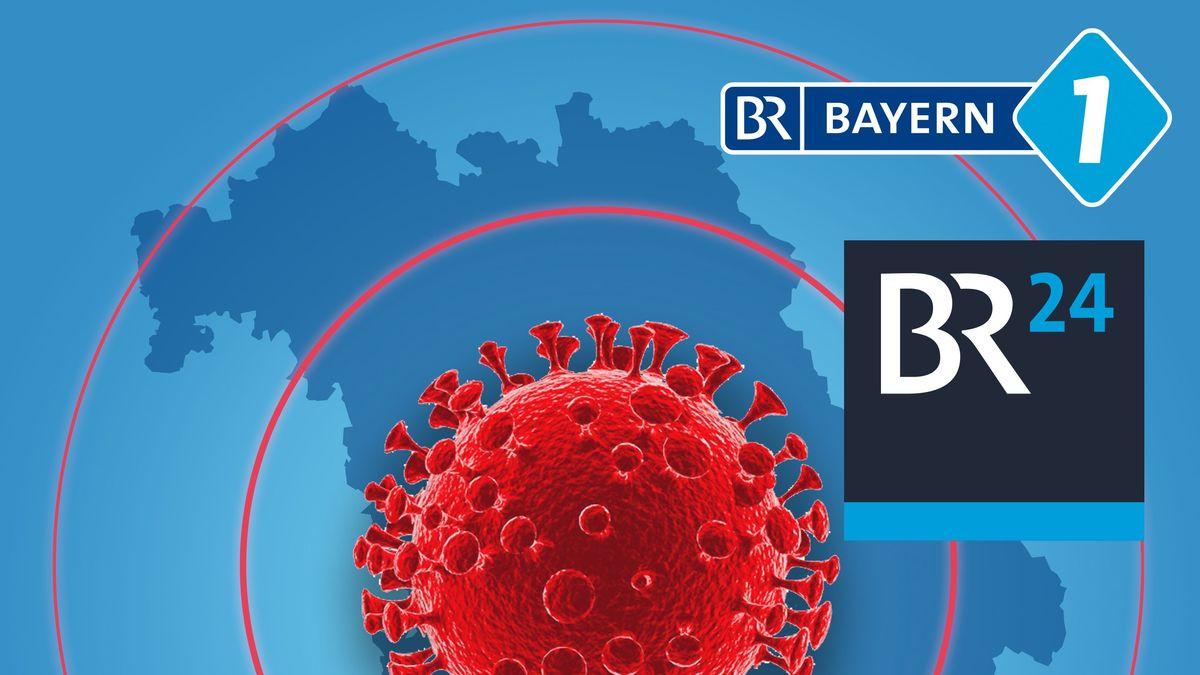 Grafik: Corona-Virus in Bayern