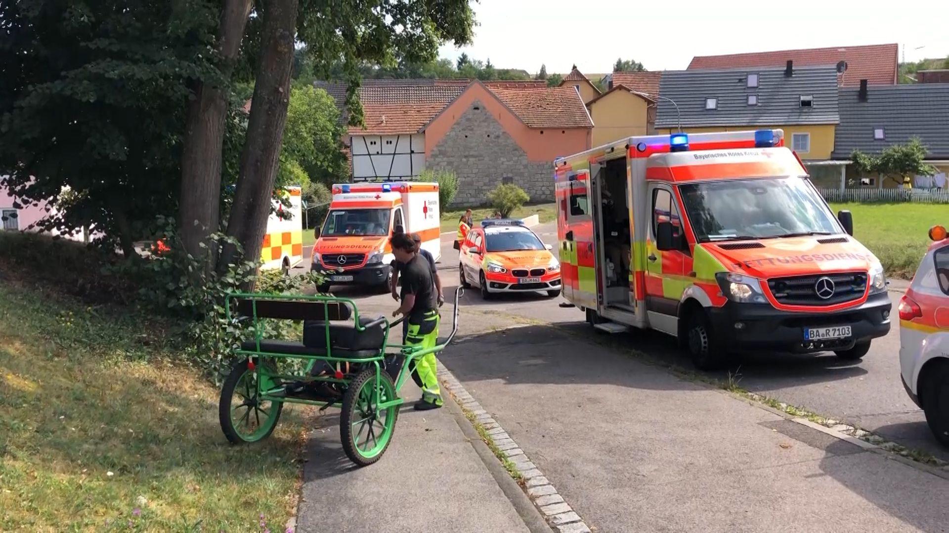 Kutschunfall in Weisbrunn
