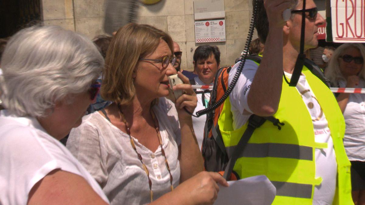 Petra Kotthoff hat die Demo in München angemeldet
