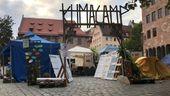 Das Klimacamp von Fridays For Future in der Nürnberger Altstadt.   Bild:BR