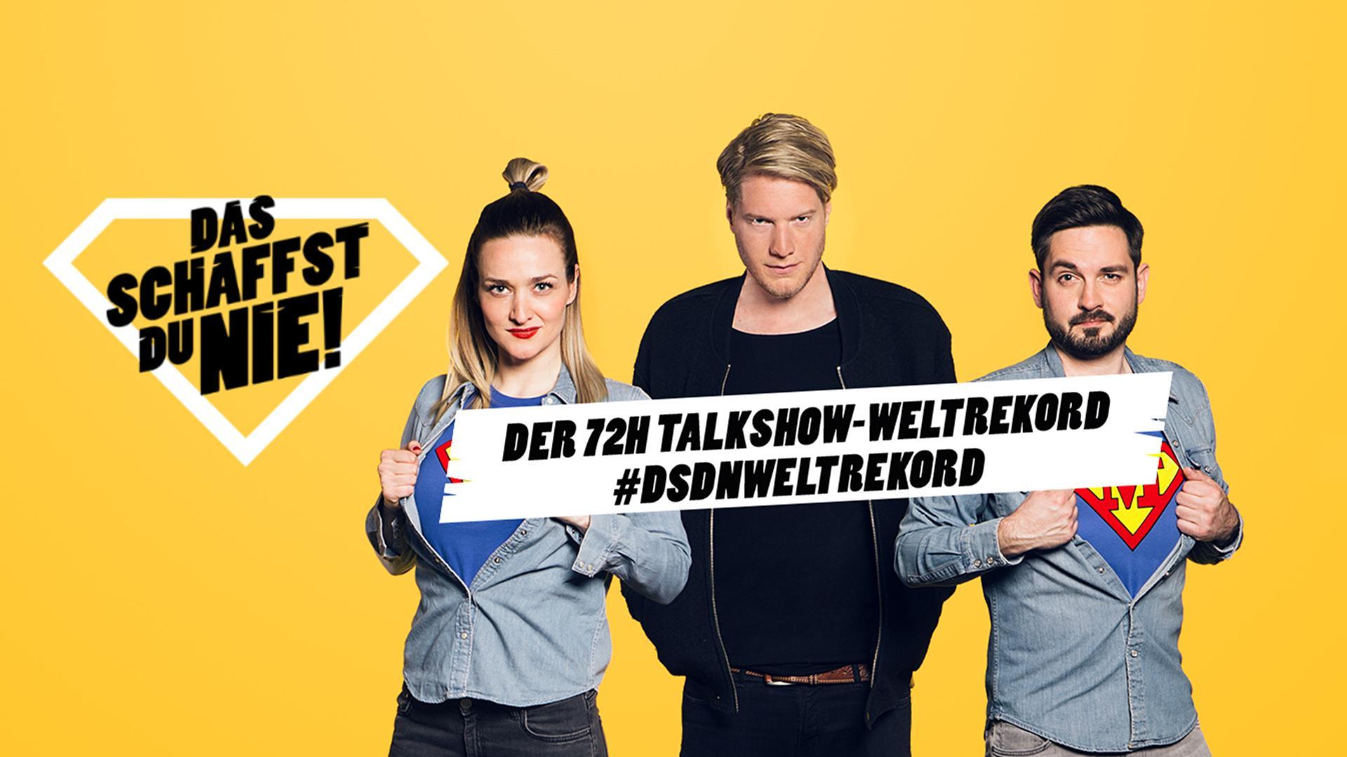 """Sendereihenlogo """"DSDN: Der 72h Talkshow-Weltrekord"""""""