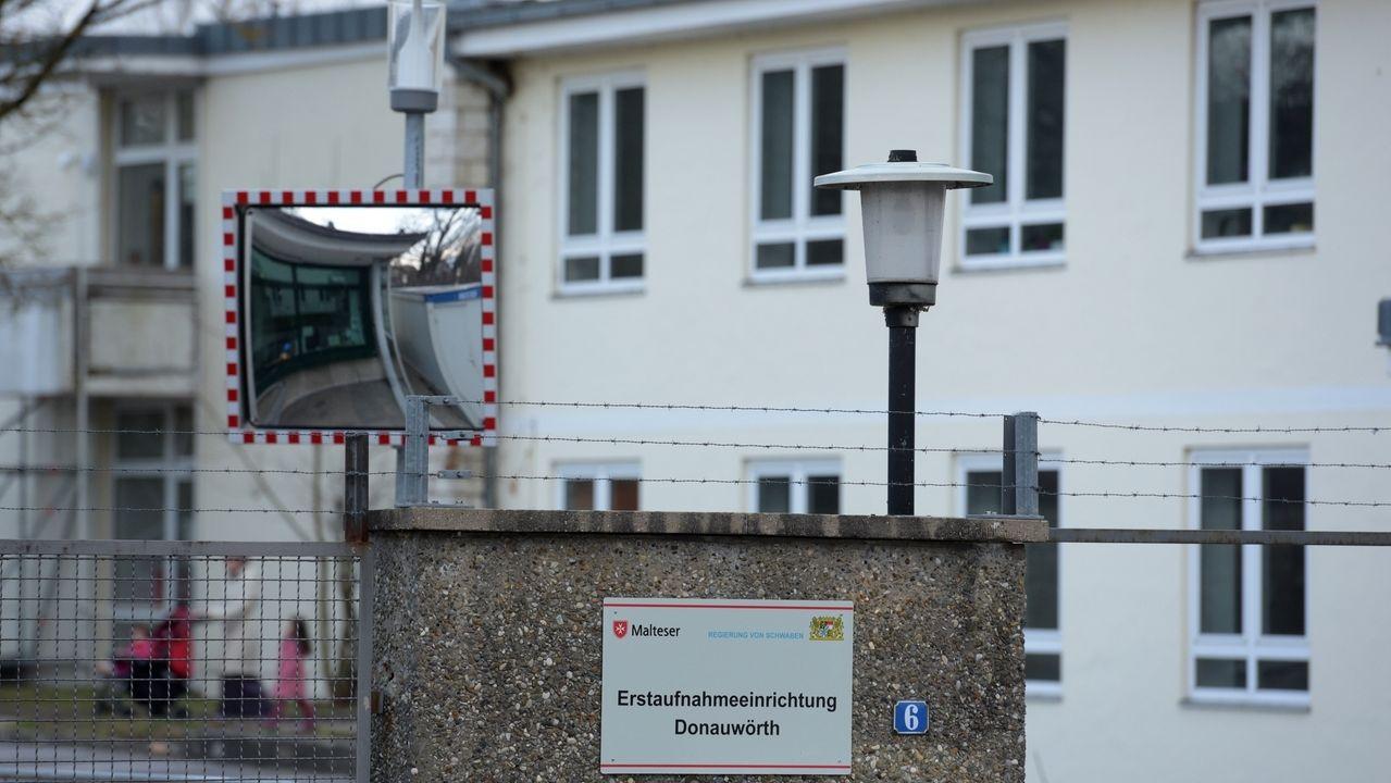 Der Eingang der Erstaufnahmeeinrichtung Donauwörth
