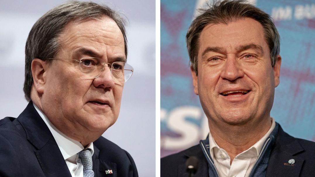 Armin Laschet, CDU-Vorsitzender und Markus Söder, CSU-Vorsitzender