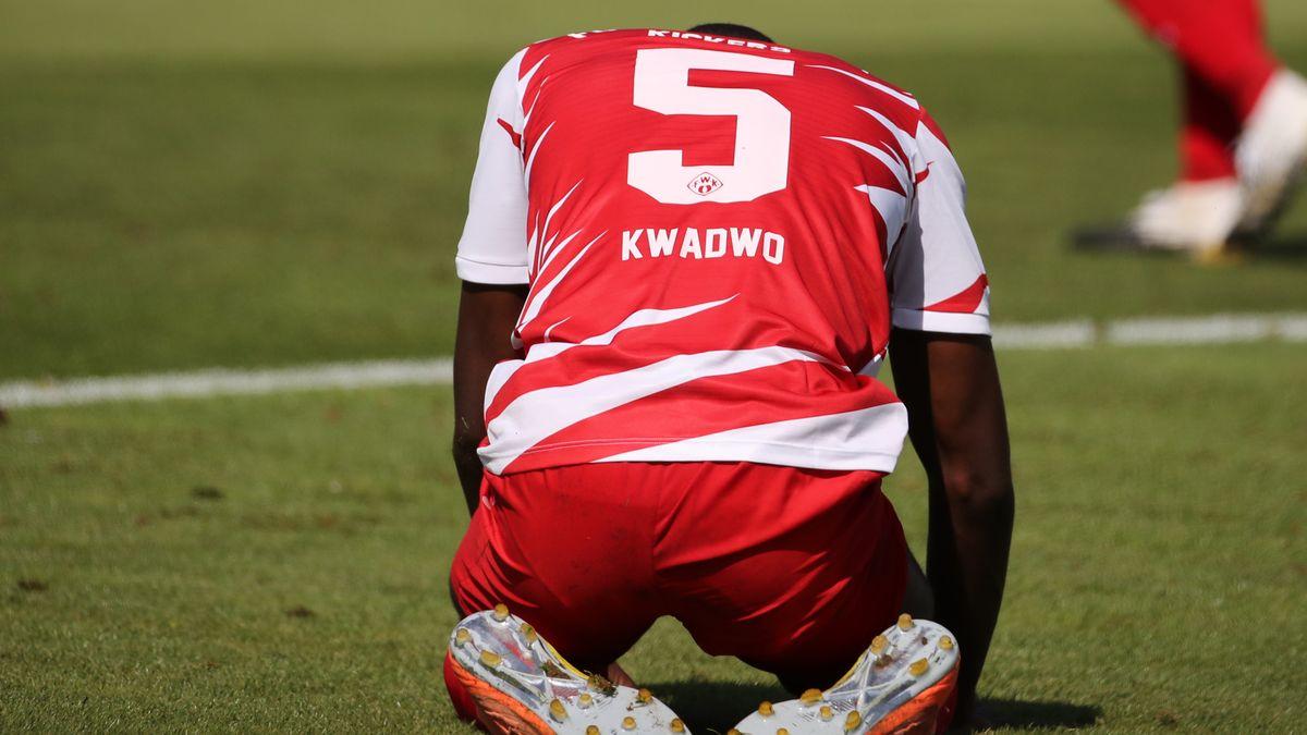 Der Würzburger Leroy Kwadwo nach dem 0:2-Gegentreffer