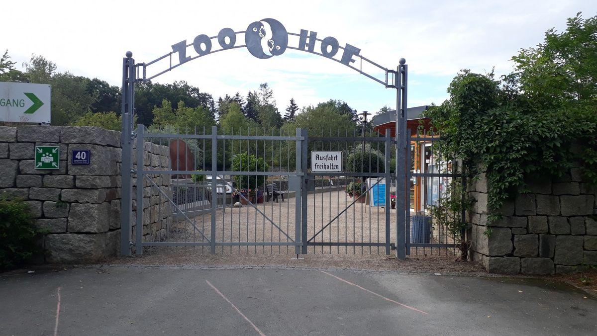 Der Eingang des Hofer Zoos