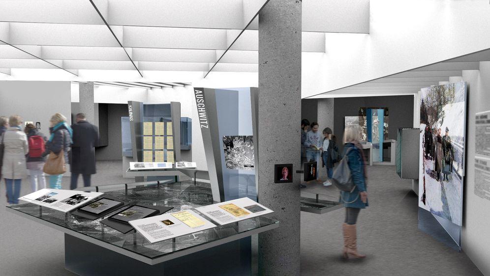Die Computersimulation zeigt die neue Dauerstellung der Dokumentation Obersalzberg | Bild:picture alliance / -/ramicsoenario Ausstellungsgestaltung/dpa