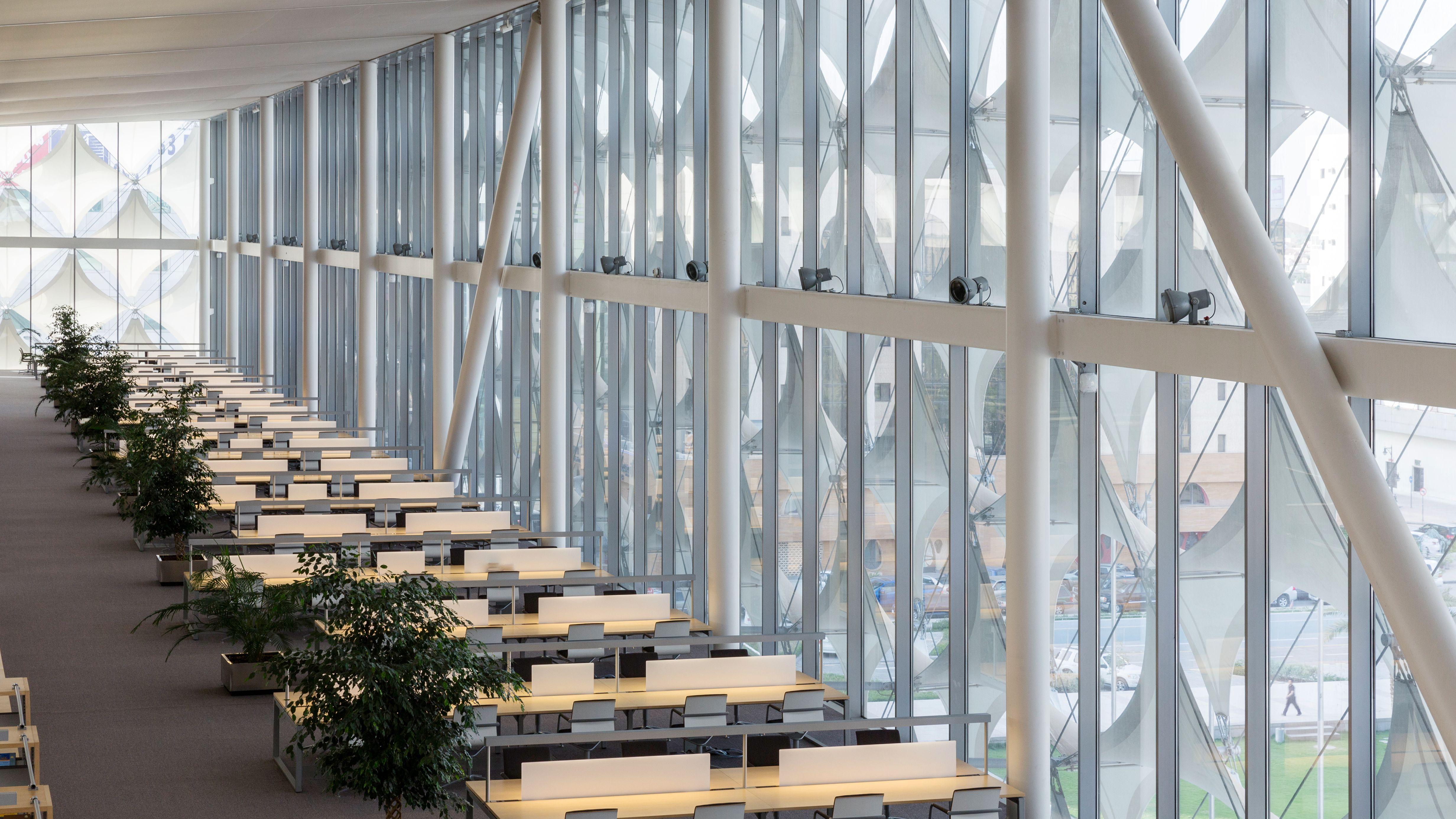 Innenansicht: Nationalbibliothek in Riad