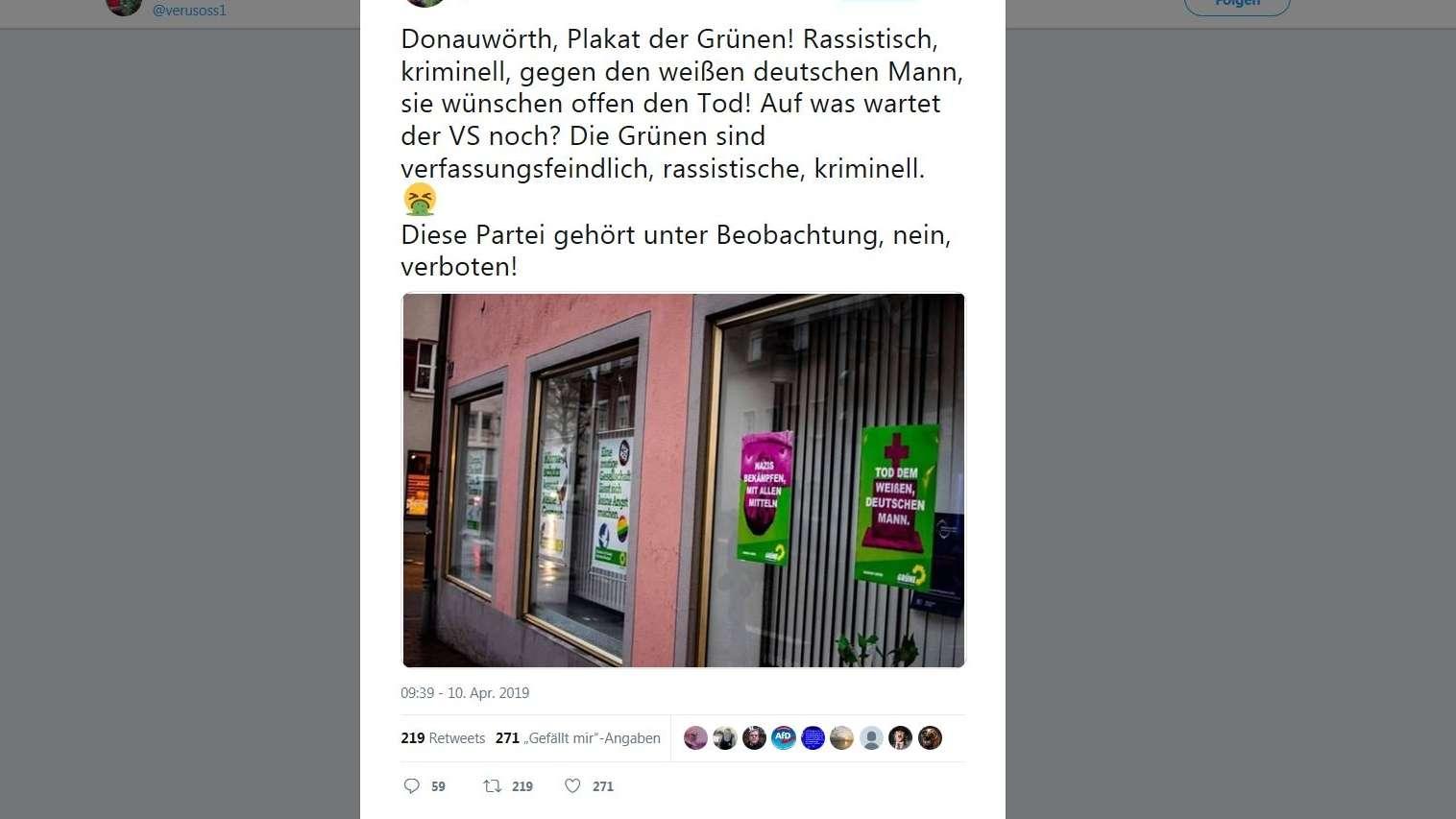 Fake-Plakate auf Twitter verbreiten sich schnell
