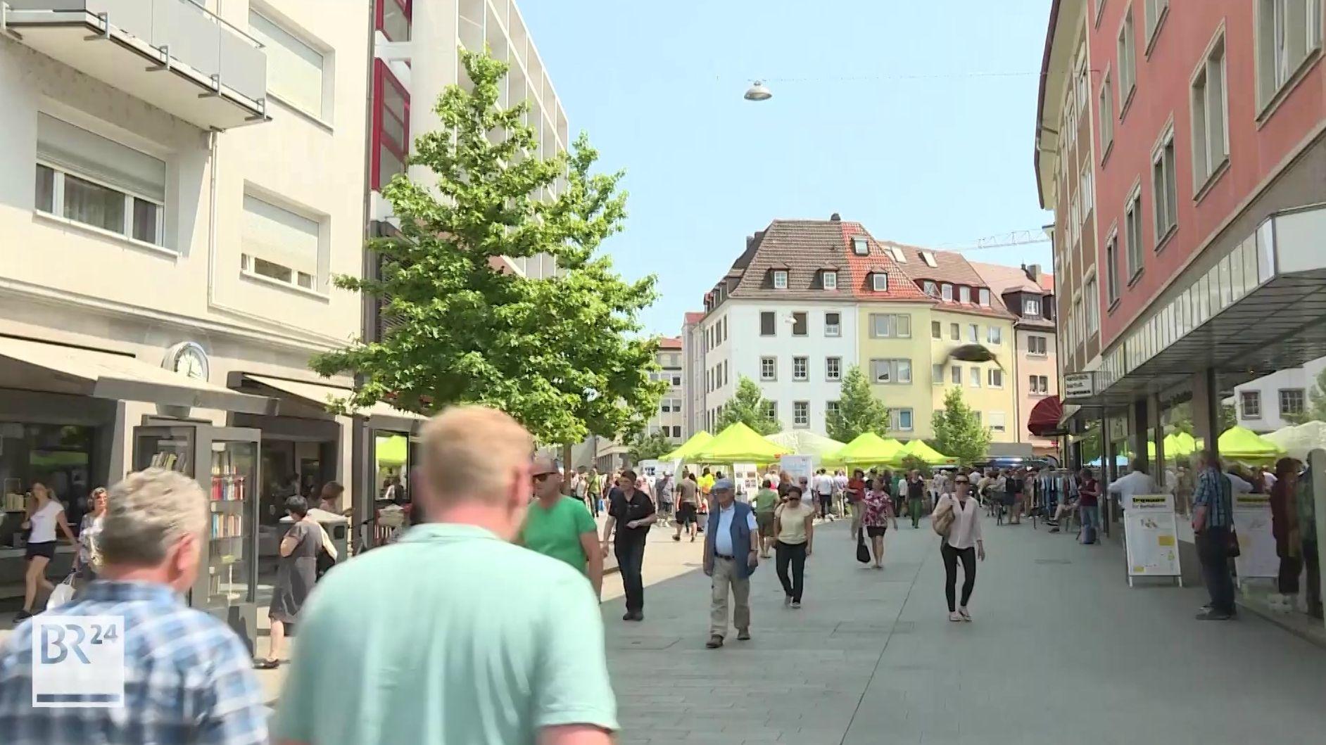 Würzburgs erweiterte Fußgängerzone