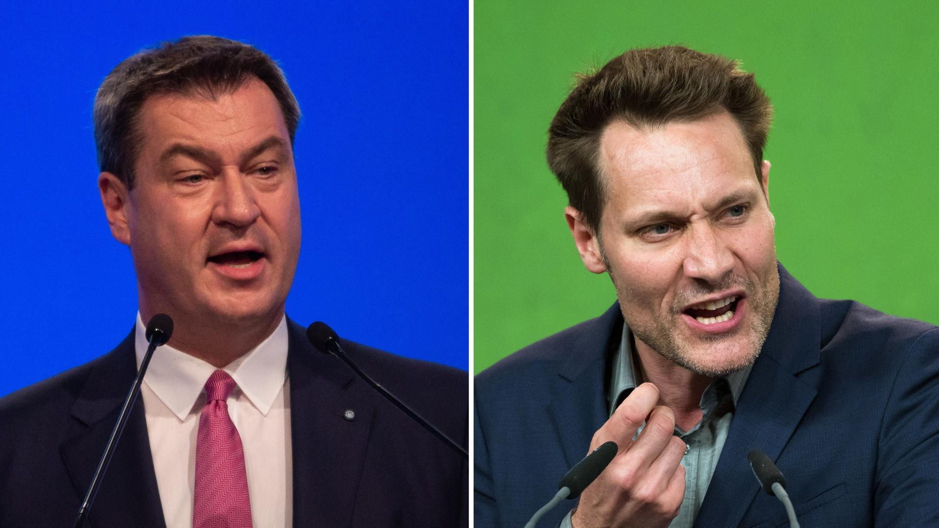Am Mittwochabend kommt es im BR Fernsehen zum TV-Duell von Ministerpräsident Söder und Grünen-Spitzenkandidat Hartmann
