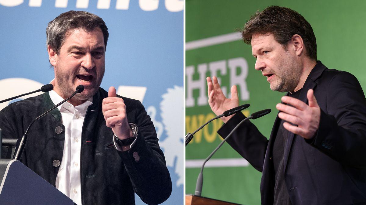 CSU bläst zum Duell Söder-Habeck am politischen Aschermittwoch