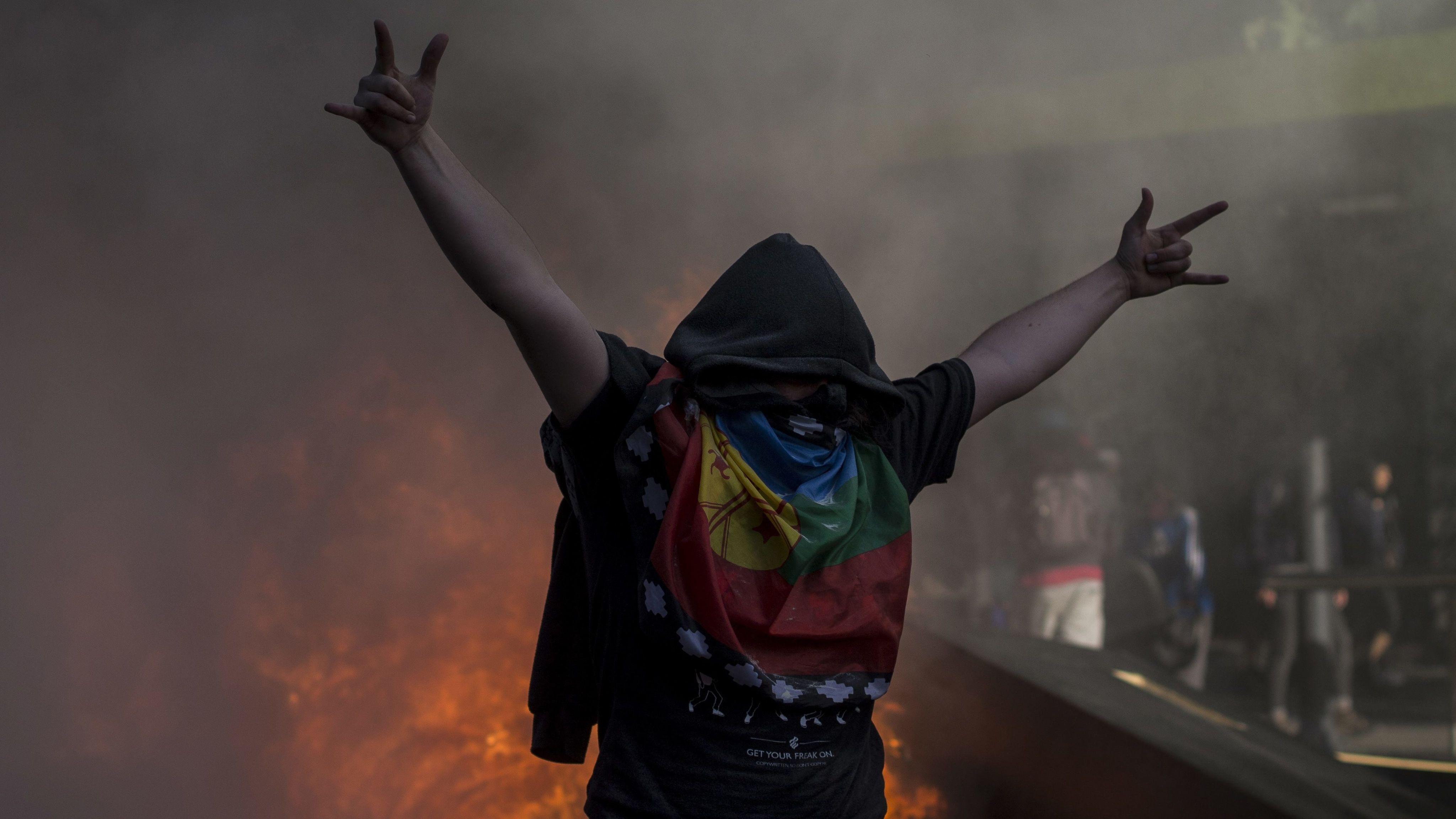 Ausschreitungen und Proteste in Chile