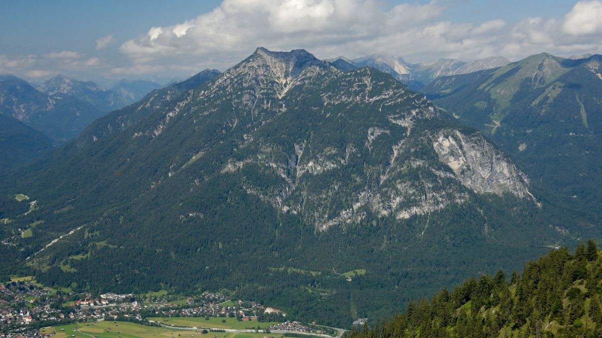 Blick auf den Kramer bei Garmisch- Partenkirchen