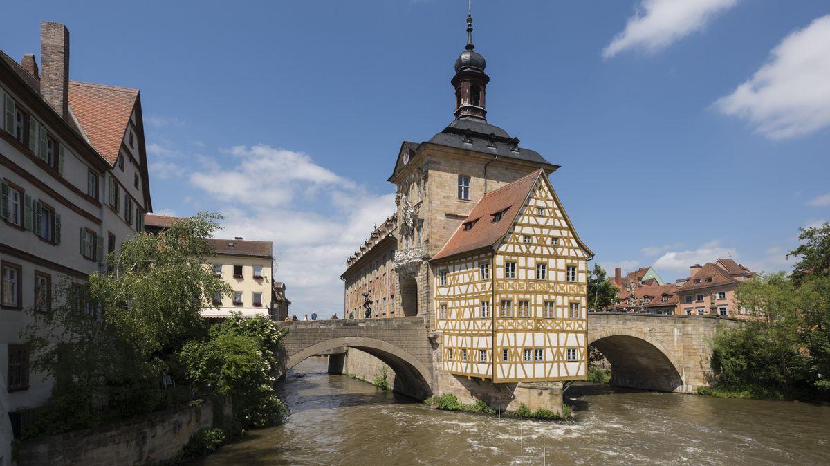 Blick auf die Regnitz bei Bamberg.