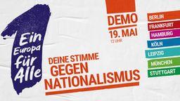 Bündnis ruft zu Großdemo für Europa auf (Plakat)   Bild:BR
