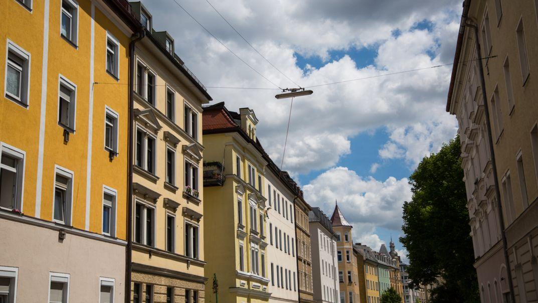 Häuserzeile in München (Symbolbild)