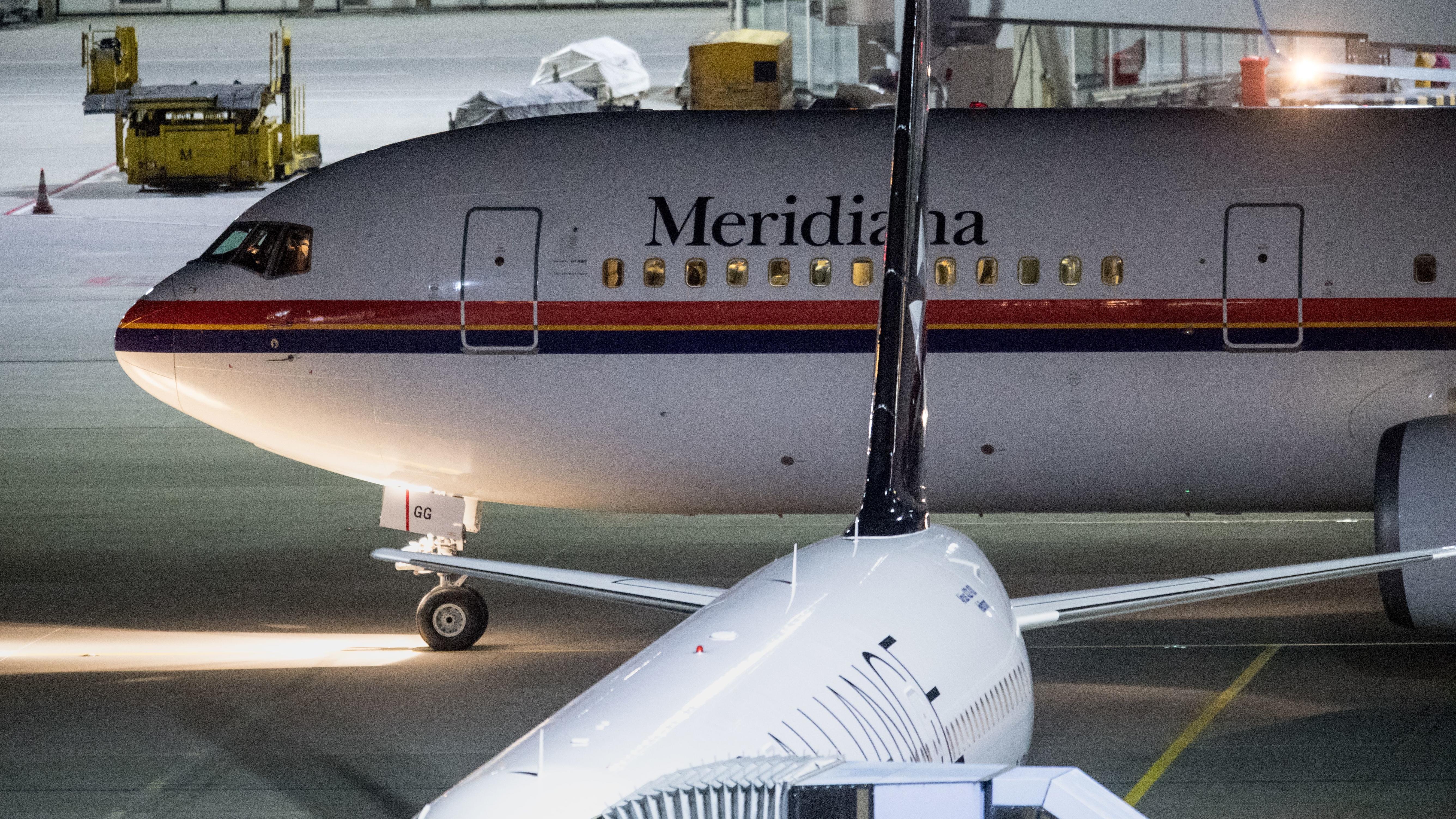 Maschine mit abgeschobenen Asylbewerbern am Flughafen München