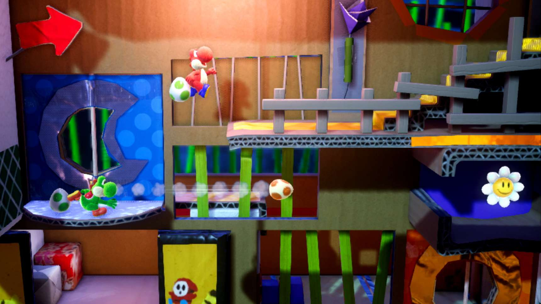 "Spielszene ""Yoshi's Crafted World"""