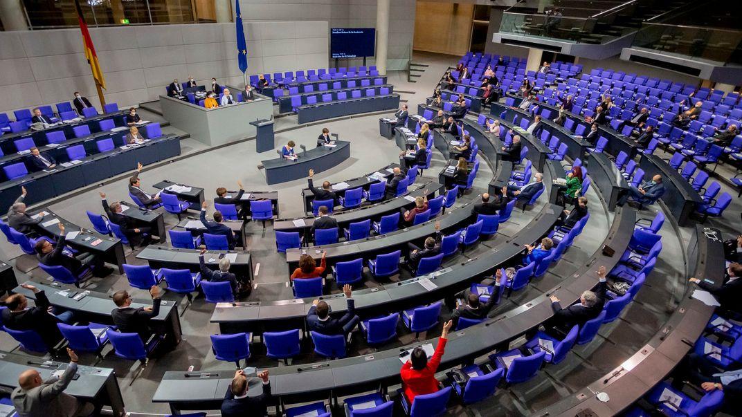 Das Plenum des Deutschen Bundestags
