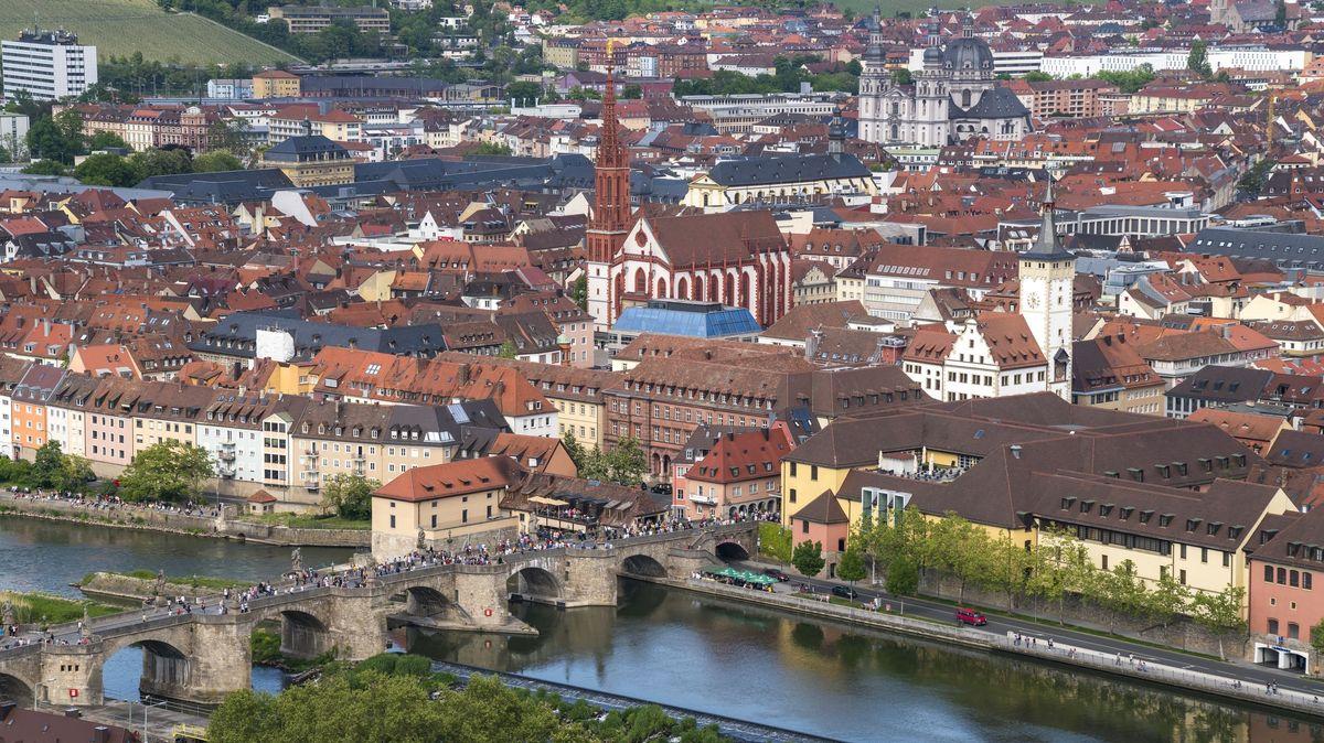 Stadtansicht von Würzburg