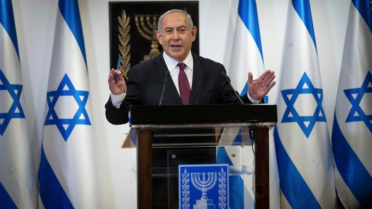 Benjamin Netanjahu spricht in der Knesset