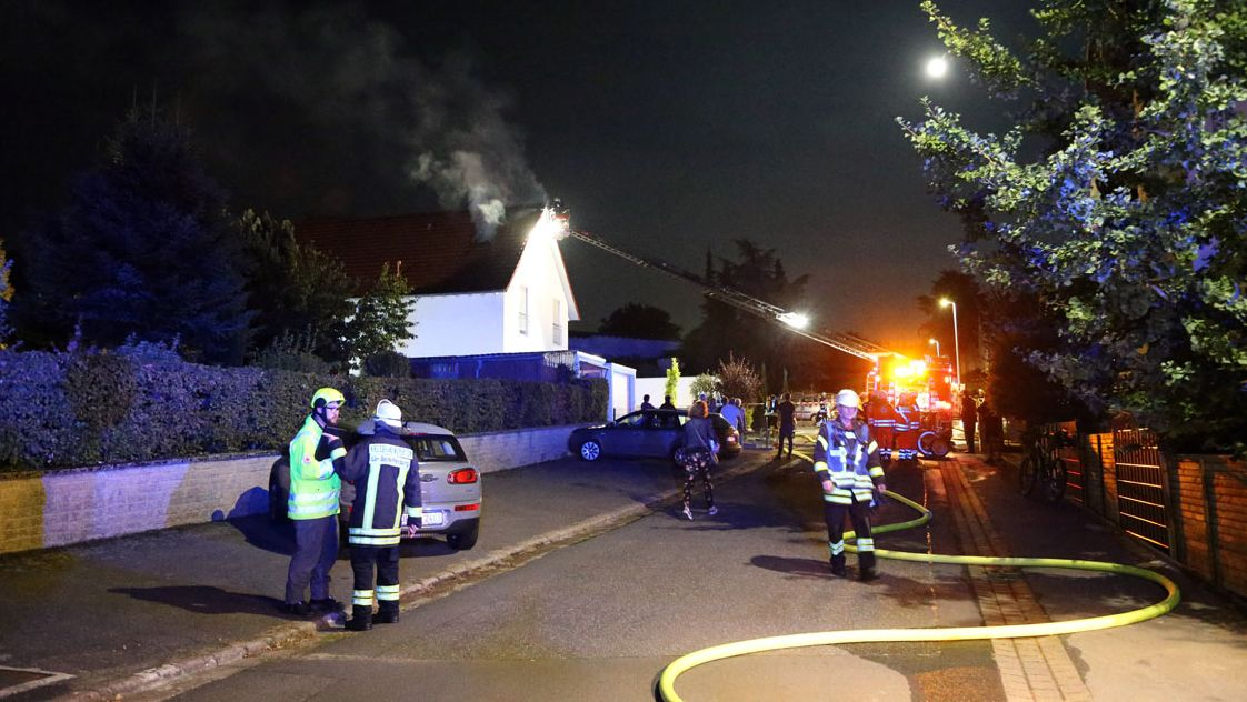 Dachstuhlbrand in Pflaumheim