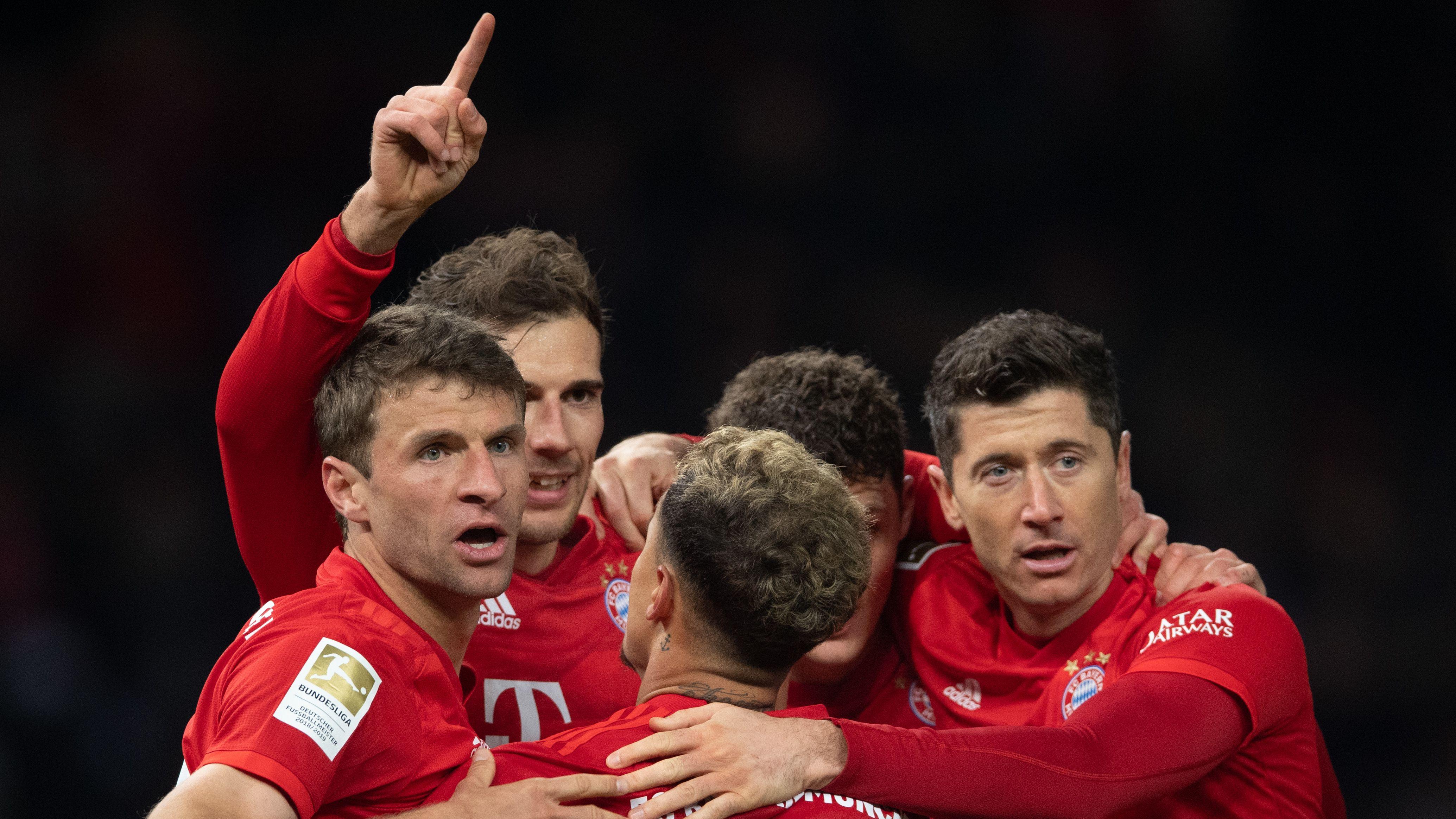 Torjubel beim FC Bayern München in Berlin