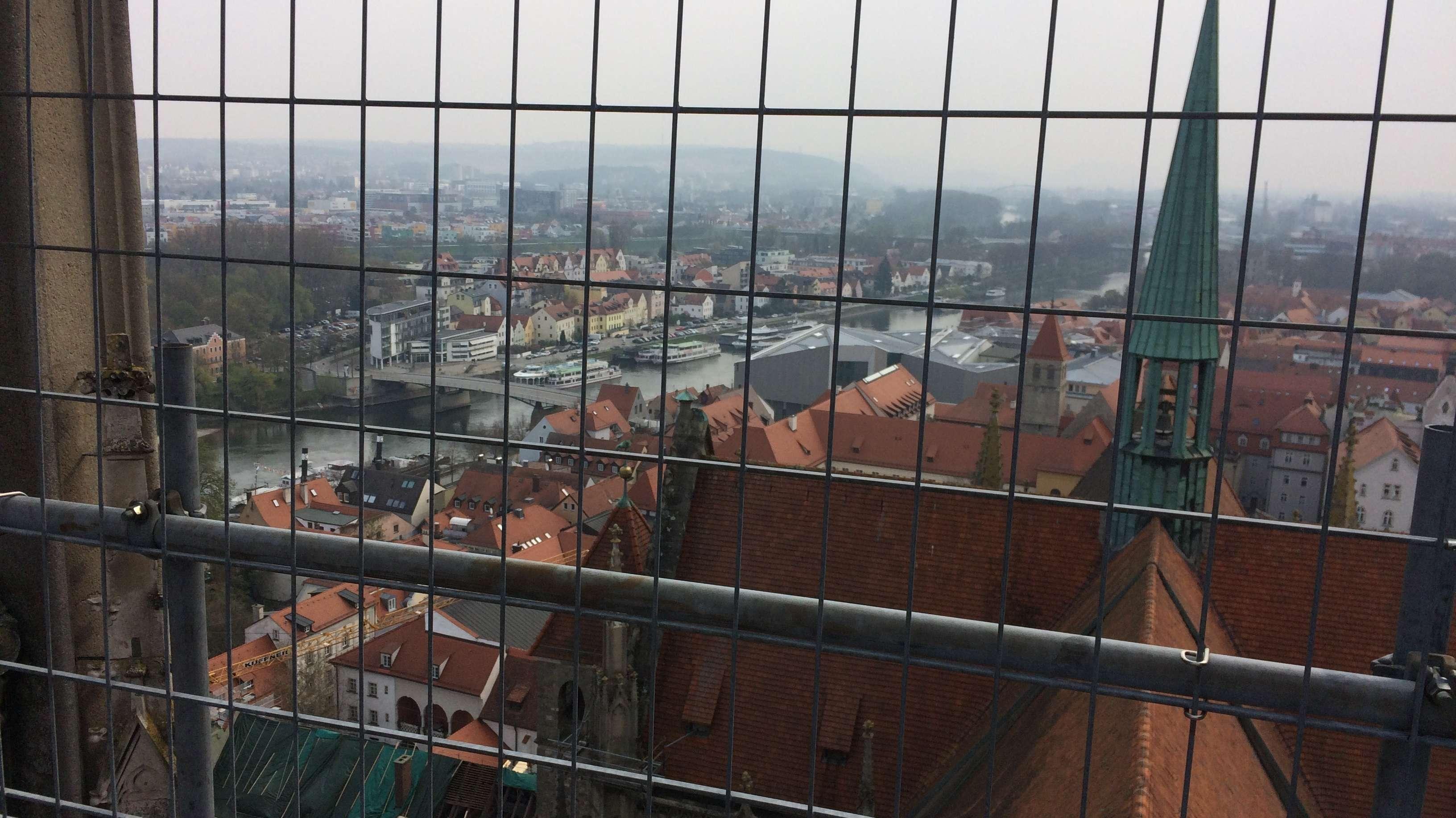 Der Ausblick vom Regensburger Dom.