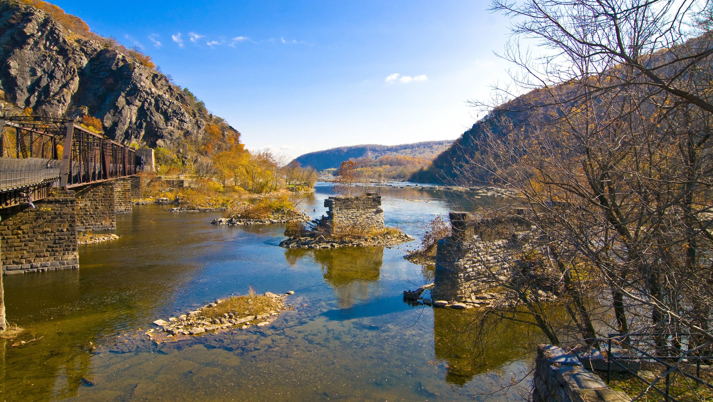Fluss in West Virginia/ USA
