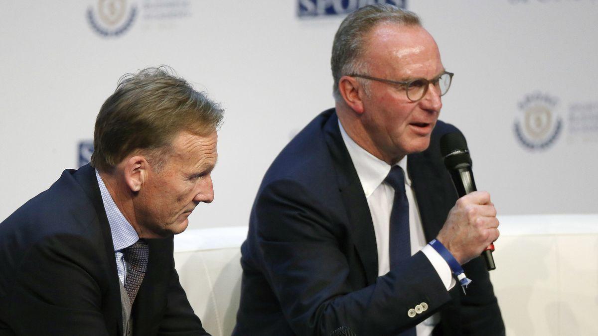 Hans-Joachim Watzke und Karl-Heinz Rummenigge (r.)