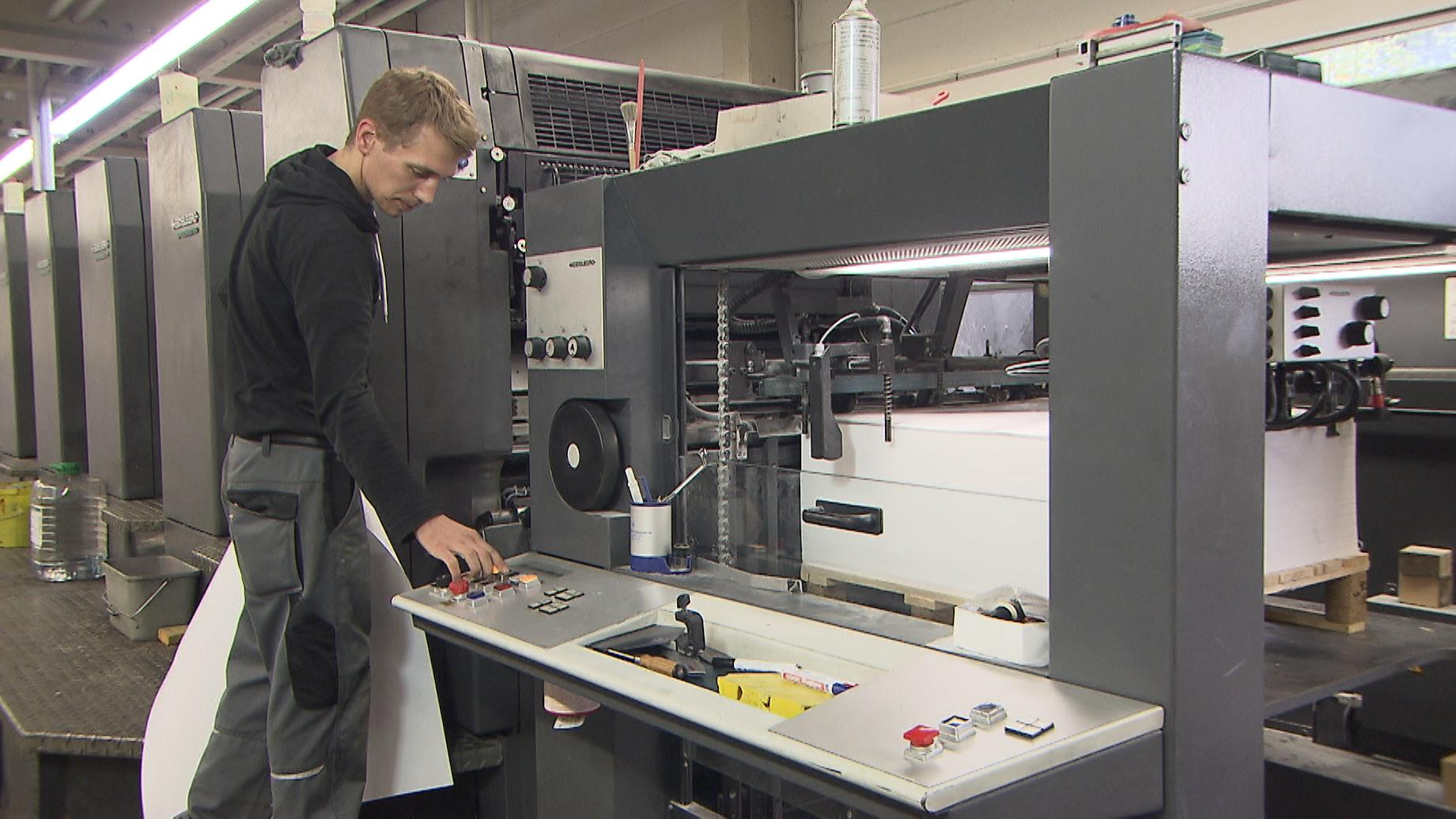 Eine Druckermaschine in Traunreuth