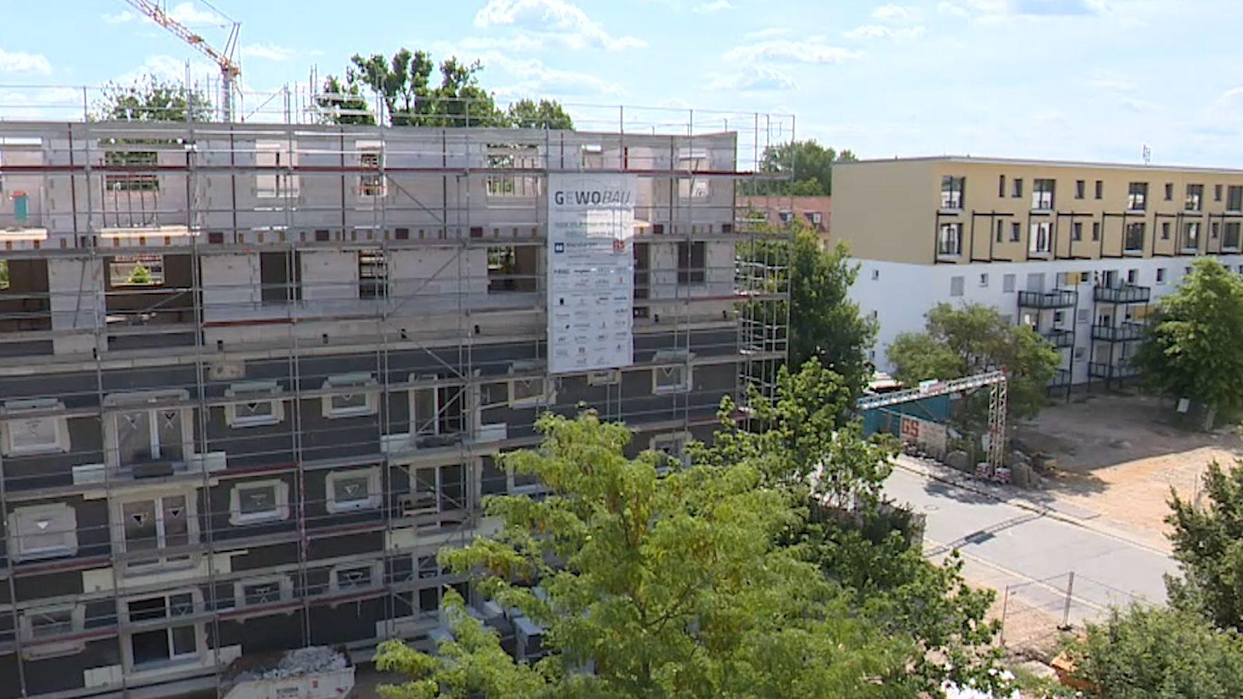 Baustelle in der Schenkstraße Erlangen