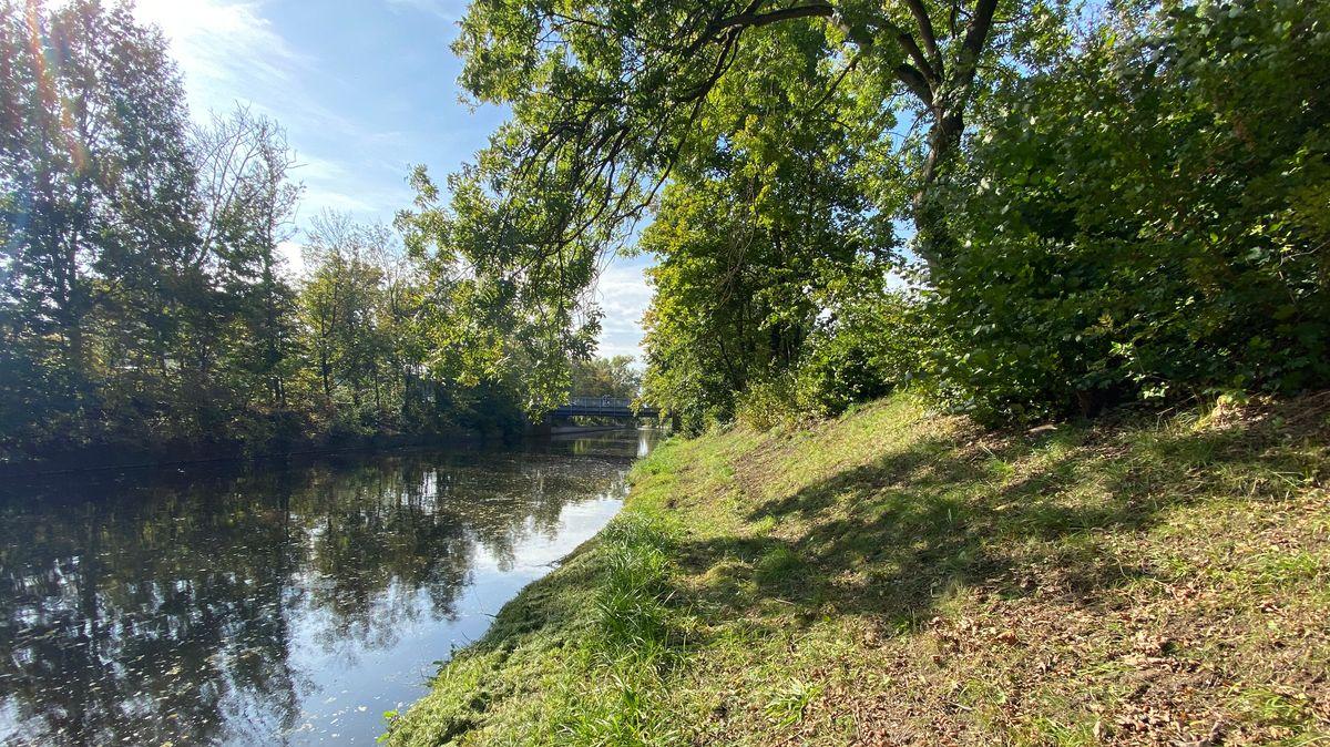 Der Flutkanal in Weiden in dem der 22-Jährige ums Leben kam