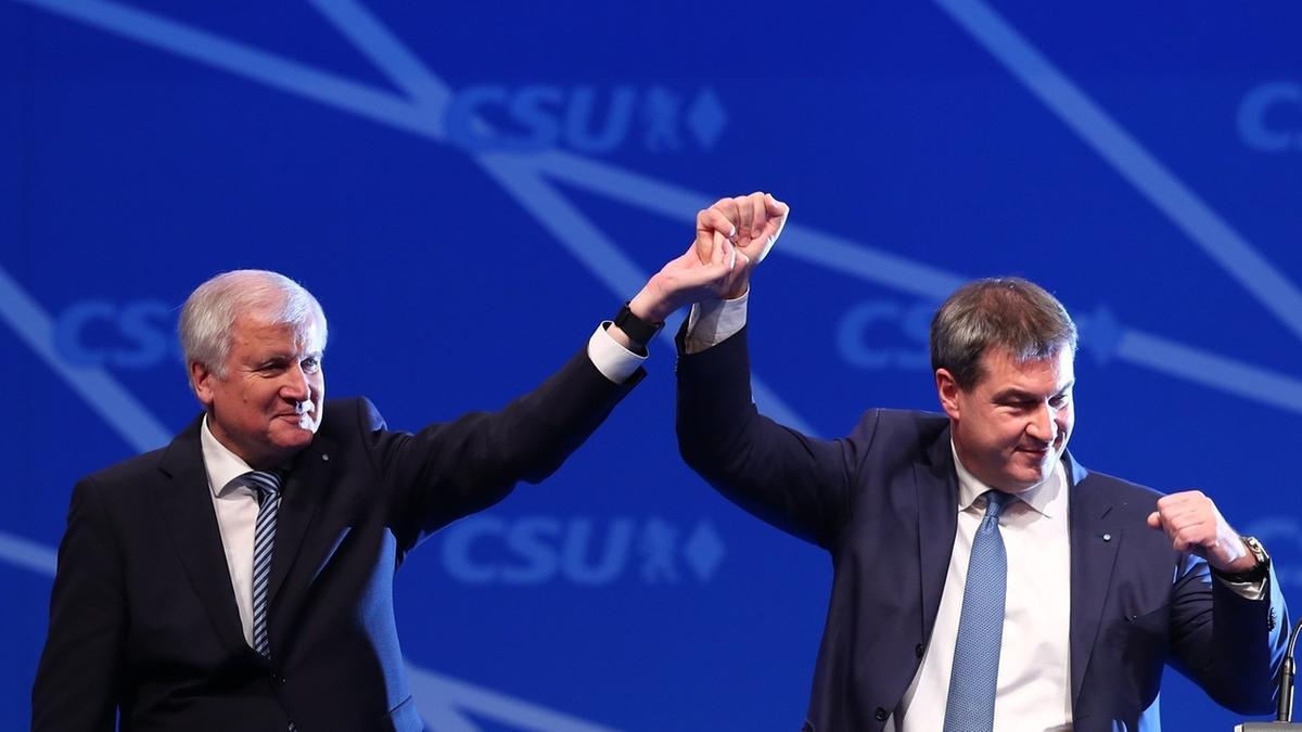 Horst Seehofer und Markus Söder beim CSU-Parteitag in Nürnberg
