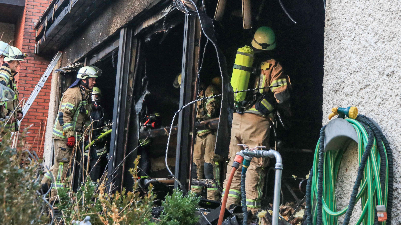 Ausgebrannte Sauna in Reundorf
