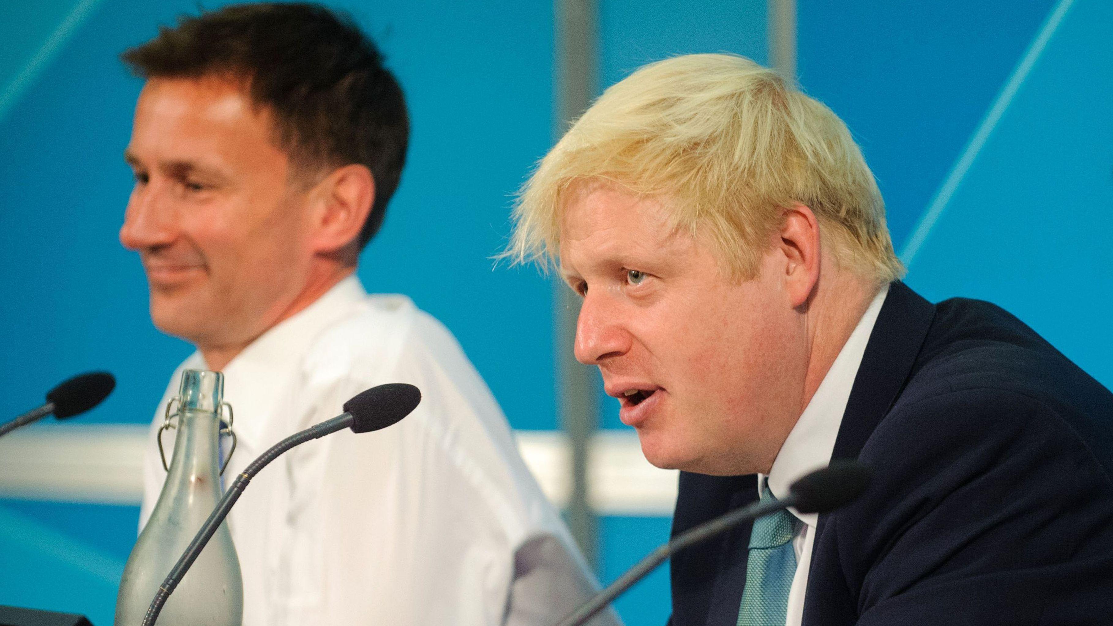 Bewerber für den Partei-Vorsitz der Tories: Hunt und Johnson