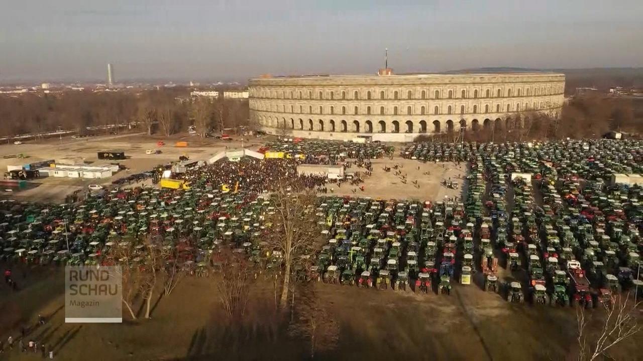 Bauernprotest in Nürnberg