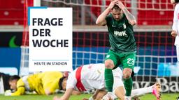 Augsburgs Marco Richter reagiert unzufrieden.   Bild:Tom Weller/dpa
