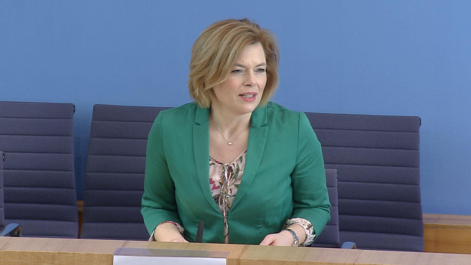 Julia Klöckner in der Pressekonferenz am Donnerstag, 26.03.2020.