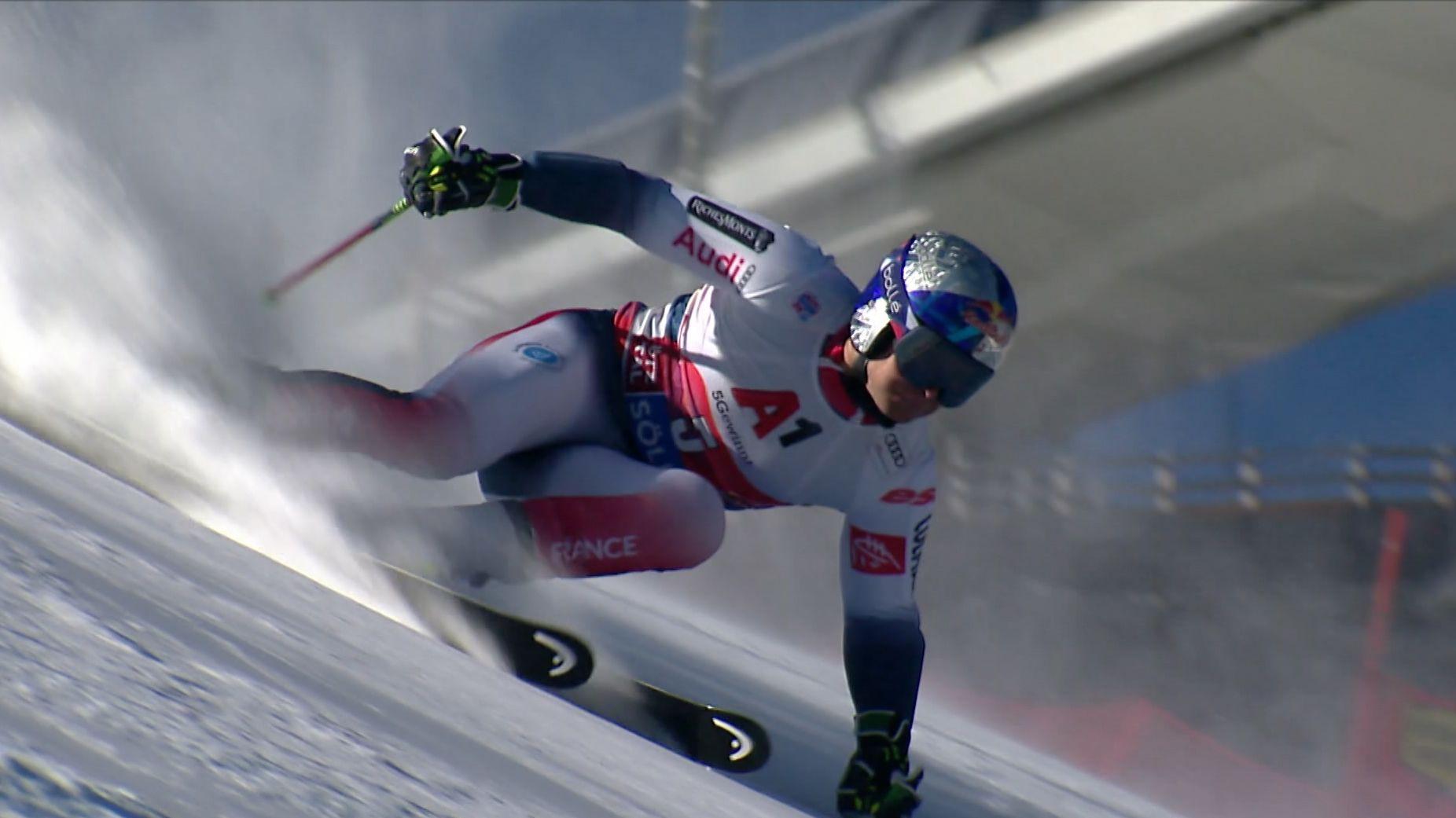 Alexis Pinterault auf der Weltcup-Piste im österreichischem  Sölden
