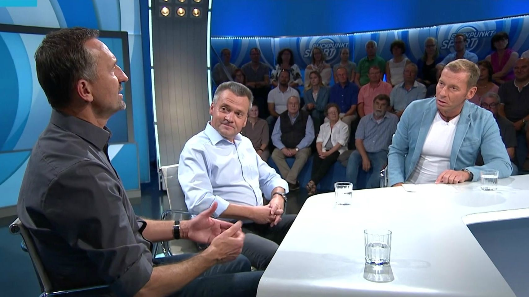 Manfred Schwabl und Achim Beierlorzer im Gespräch mit Markus Othmer
