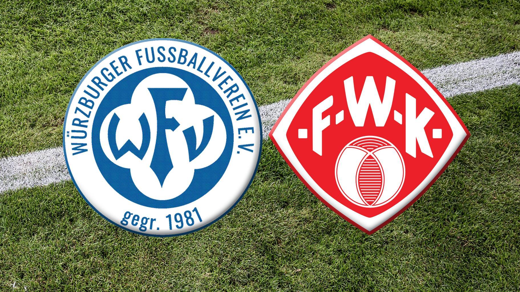 Vereinslogos des Würzburger FV und der Würzburger Kickers