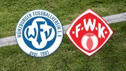 Vereinslogos des Würzburger FV und der Würzburger Kickers | Bild:Würzburger Fußballverein e. V. / FC Würzburger Kickers AG