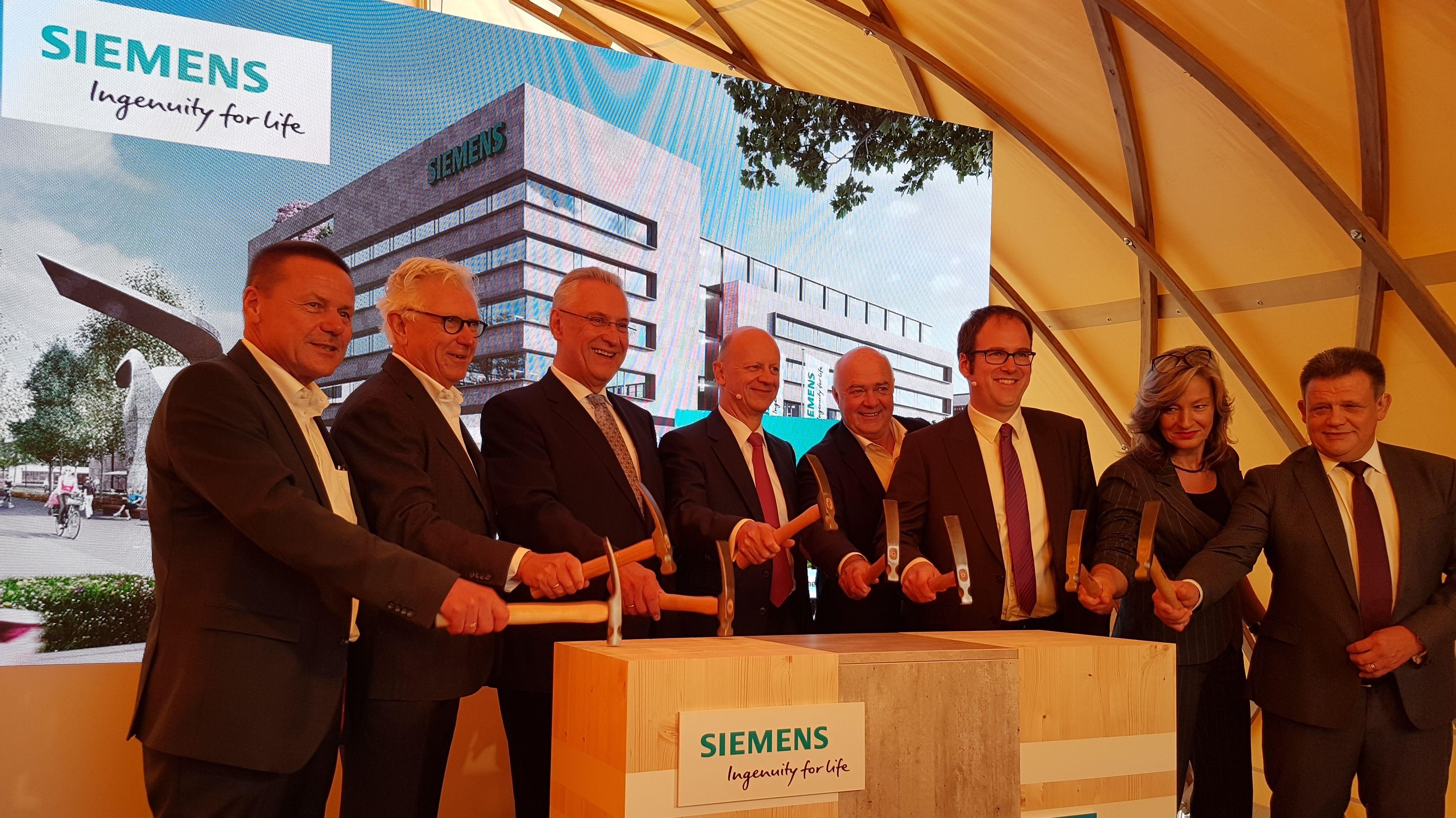 Grundsteinlegung Siemens-Campus